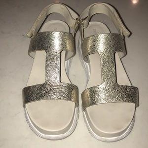 Cole Haan Zero Grand Gold Metallic Sandals